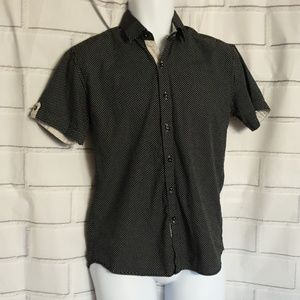 CAFE SHIRT SHORT sleeve for men size S slim fit